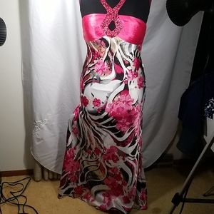 8 Dave and Johnny Prom Dress Pink Floral